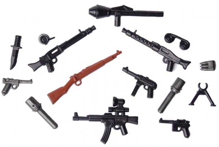 WW2 Custom Waffe für LEGO® Figuren BrickArms M1917 MG mit Dreibein Militär