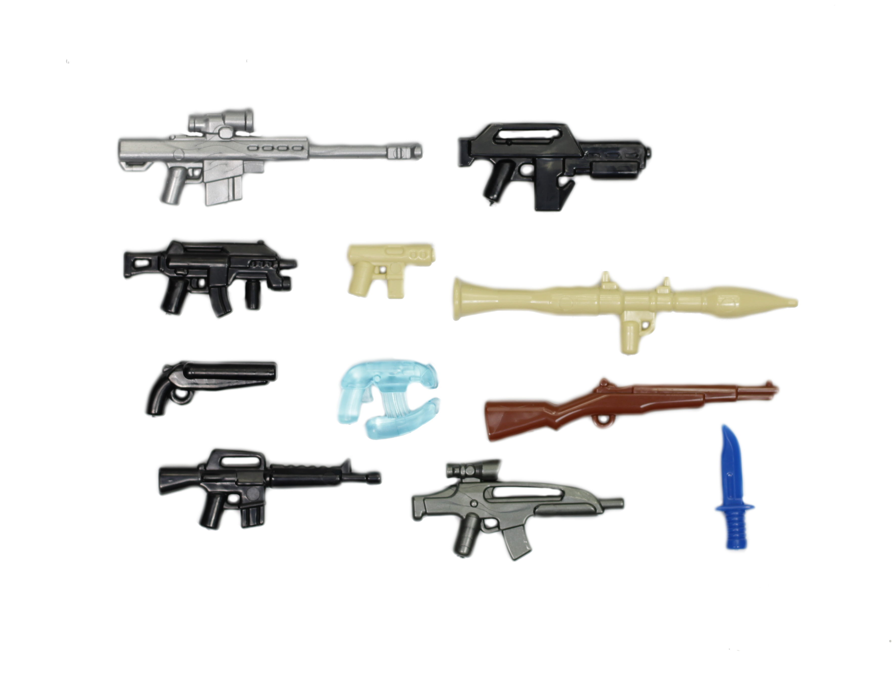 BrickArms Value Pack 3 Custom Weapons//Accessory Pack for Minifigures NEW