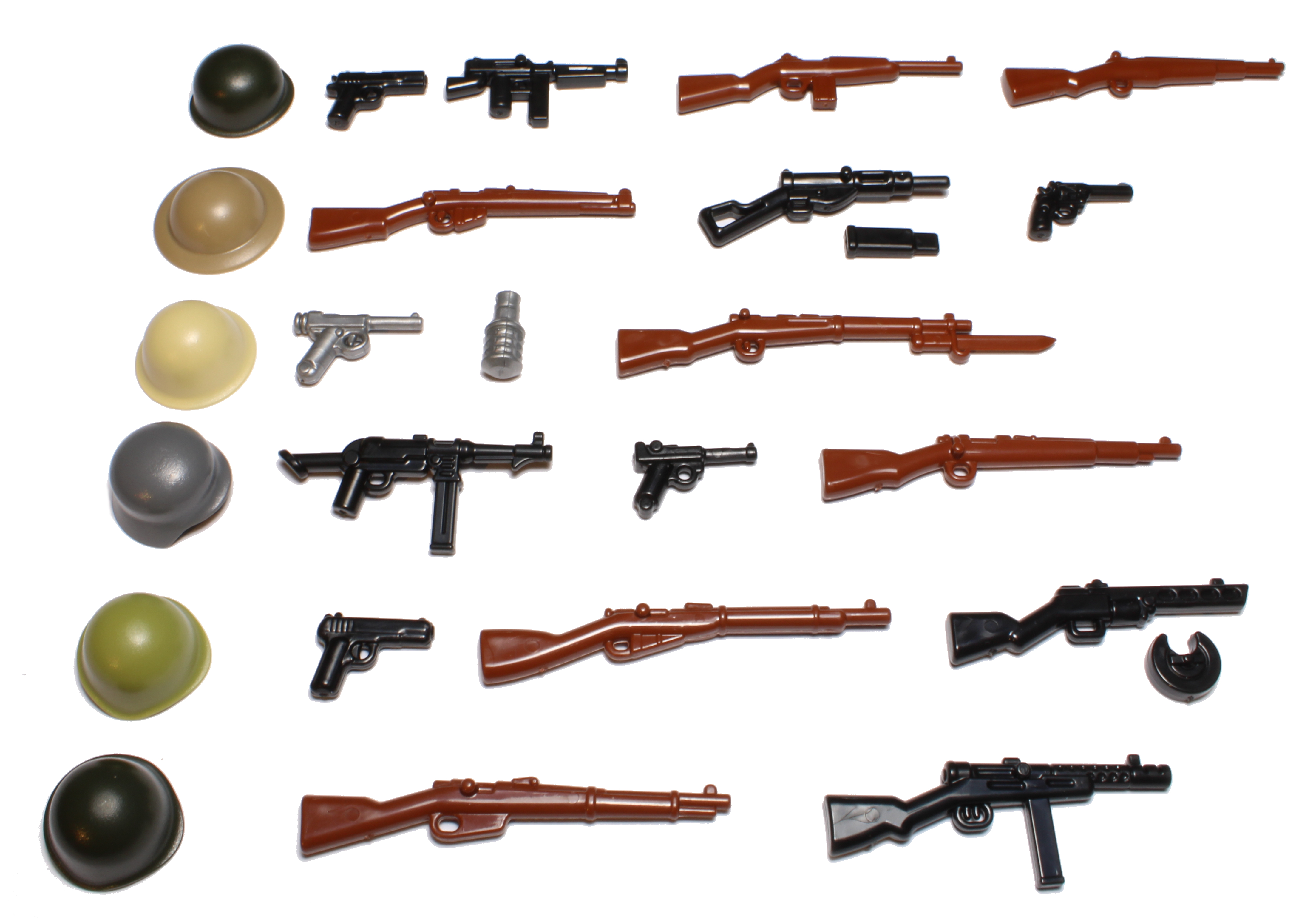 BrickArms World War 2 Weapons Pack Vs 2 Accessories for LEGO Minifigures NEW